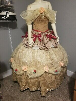 Fantasy Themed Costumes (Fantasy Disney Belle BEAUTY AND THE BEAST Themed 2pc Corset)