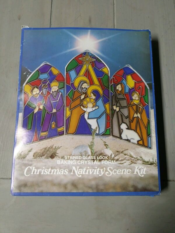 Stained Glass Christmas Nativity Scene Kit by EZE FORM
