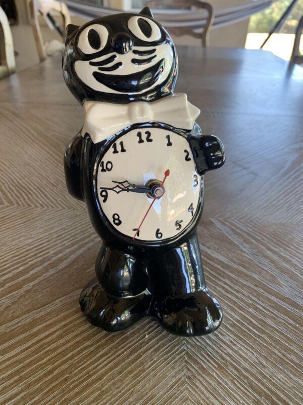 Vintage Felix The Cat Black & White California Clock Company Rare!!!!!