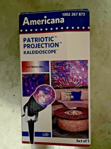 NEW Americana Projection Kaleidoscope Red White Blue LED Projection Light