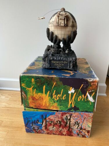 Sam Zell 1998 The Whole World Automaton Sculpture w Signed Box - RARE