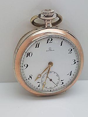 Vintage Omega Grand Prix Paris 1900 18 Ligne Pocket Watch Case 0.800 Silver - 8E