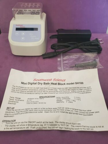 Southwest Science Mini Digital Dry Bath Heat Block PN SH100