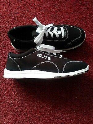 Elite Mens Black Casual Bowling Shoes Size 7 ()
