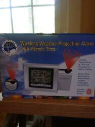 WT-5120U-GB La Crosse Technology Atomic Projection Alarm w/Outdoor Temp NIB