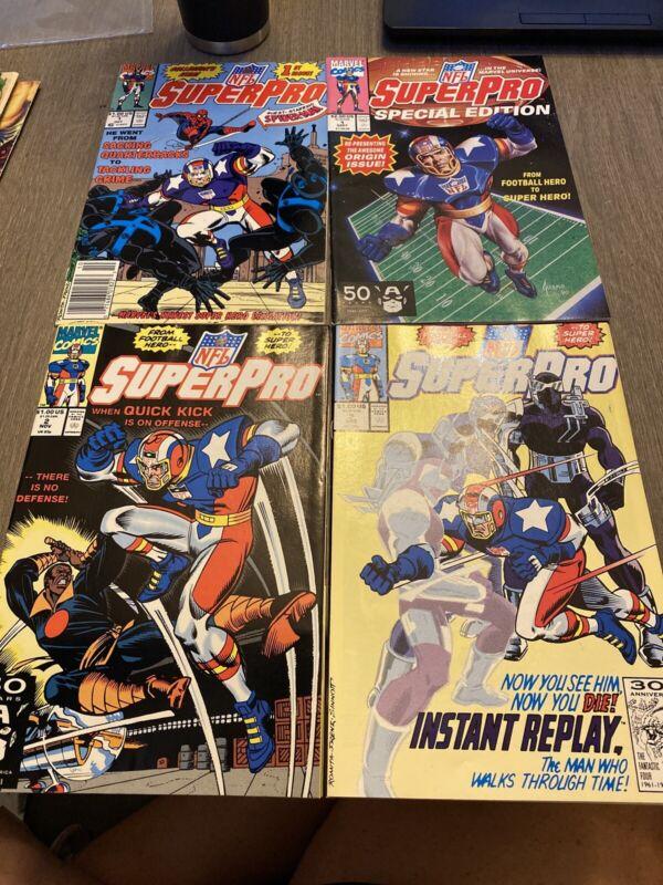 Lot Of 4 Superpro Comics 1991