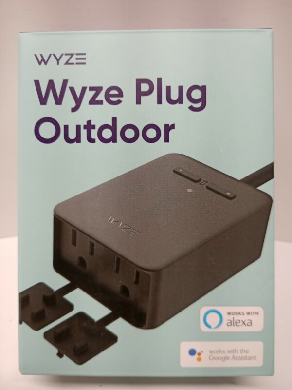 Wyze Outdoor Outlet (2 Plugs In 1) IP65 FREE SHIPPING NEW and FACTORY SEALED