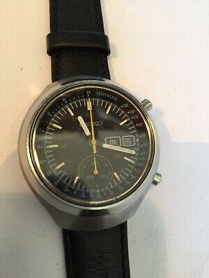 Vintage Seiko Helmet Darth Vader Watch Chronograph