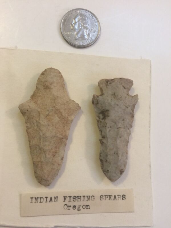 Very Old Indian Fishing Spearheads Columbia River Oregon