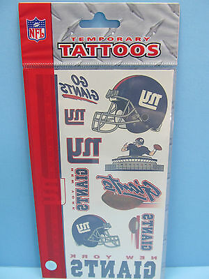 New York Giants Tattoos (NEW YORK GIANTS TEMPORARY TATTOOS- WINCRAFT SPORTS OFFICIALLY LICENSED)