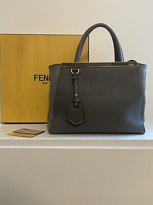 2jours FENDI Medium Tote Blue Grey, Great Condition With Box And Tags!