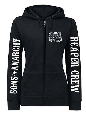 Sons of Anarchy Reaper Crew Logo female Zip-Hoodie, Damen Kapuzenjacke (Sons Of Anarchy Hoodies)