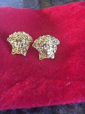 stud earring Versace style medusa head