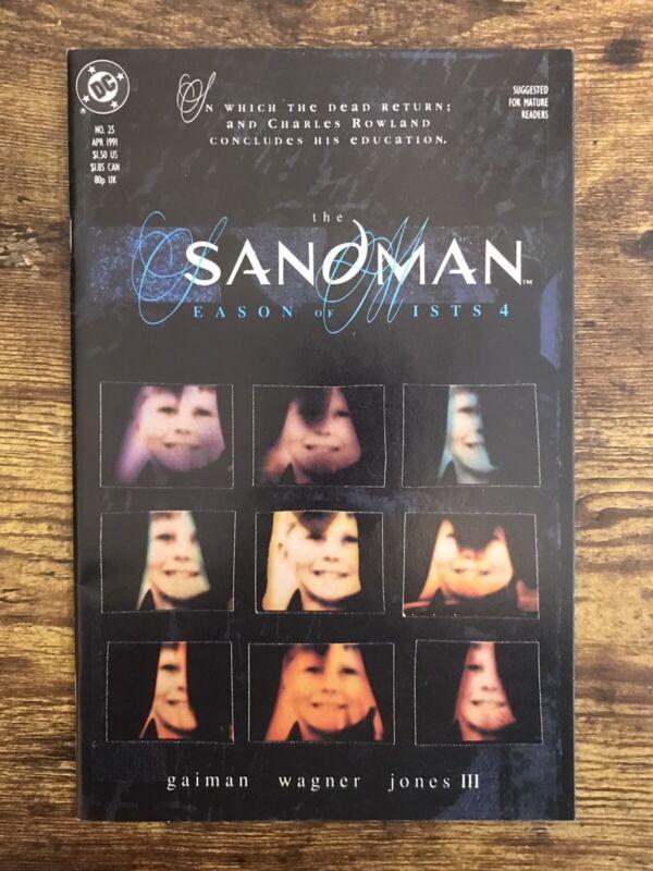 DC Comics 1989 The Sandman #25 VF/NM- Dream Morpheus Gaiman Season of Mists 4