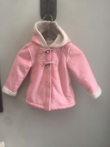 Girls pink old navy shearling Sherpa coat size 5