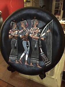 copper metal plate with pharaonic art design