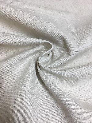 LAURA ASHLEY LINEN BACK COATED UPHOLSTERY FABRIC 1.6 METRES