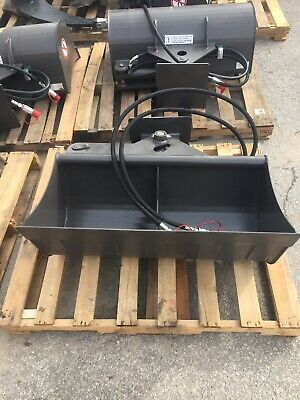 36 Hydraulic Ditching Grading Bucket For John Deere 27 35 Mini Excavators