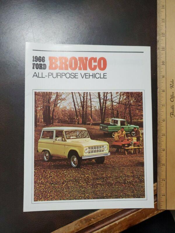 Vntg 1966 Five Town Ford Glen Rock Shrewsbury Pa Dealership Brochure Bronco