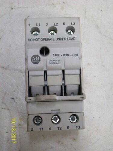 ALLEN BRADLEY FUSE HOLDER 30A 600V (for midget fuses) , 140F-D3M-C30