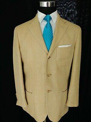 Vintage Ralph Lauren Polo Italy Mens 3Bttn Blazer Jacket Sport Coat Silk 39/40S