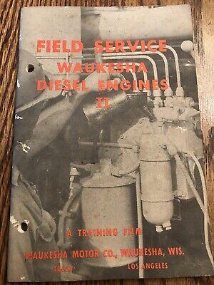 Field Service Waukesha Diesel Engines Ii