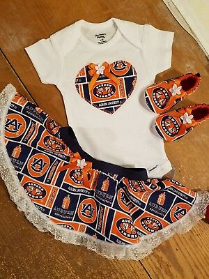 Auburn Tigers Baby Girl 3 Piece Tailgating Outfit 3-6 Months Auburn University