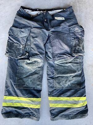Firefighter Janesville Lion Apparel Turnout Bunker Pants 44x30 Black Costume 08
