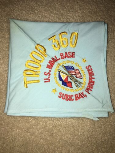 Boy Scout Troop 360 US Naval Base Subic Bay Navy 1 Far East Council Neckerchief