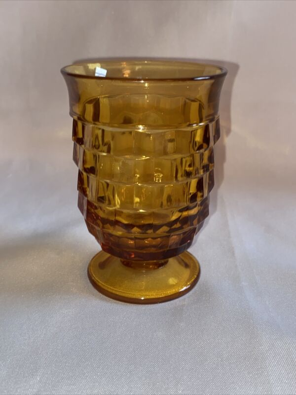 """Vintage Small Cup Amber American Fostoria Depression Glass 3.75"""""""
