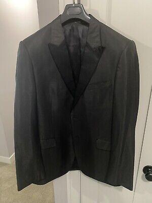 Mens Black Versace Tuxedo Blazer 54 Euro 44 US