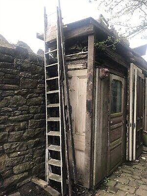 Huge Mill Stepladders Ladder Upcycle Shelves Vintage Slaithwaite Tall Ladders