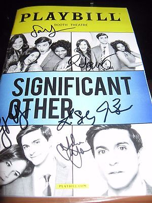 Significant Other Broadway Autographed Playbill LAST TWO