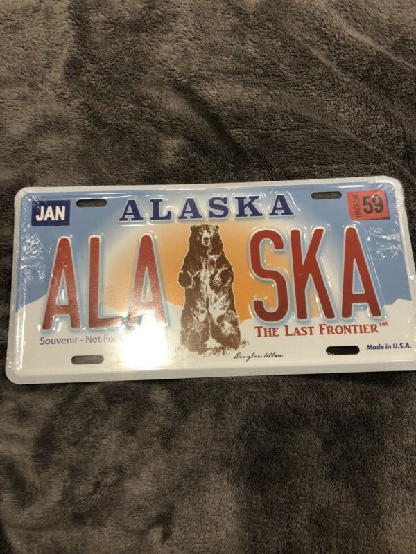 Alaska Metal License Plate- Made In USA!!! New