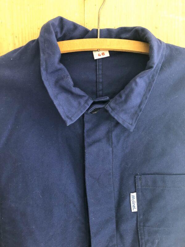 Vintage French BLEU DE TRAVAIL jacket WORK WEAR moleskine c1950