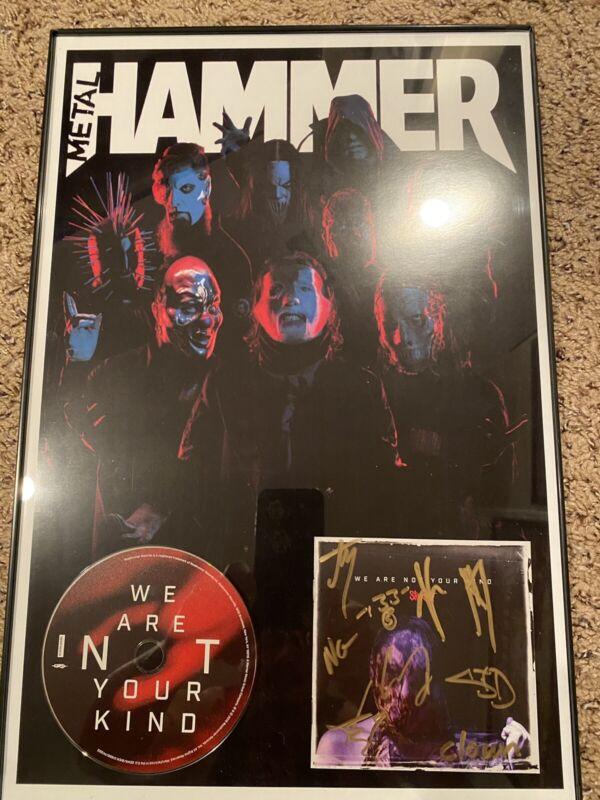 Slipknot Framed Signed Wanyk Cd Booklet.