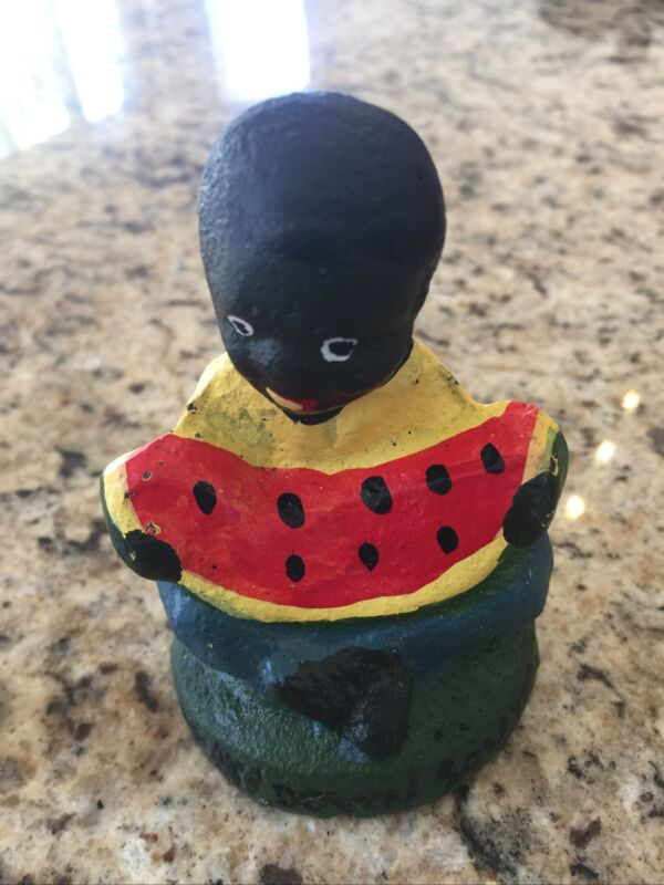 """Cast Iron Boy Eating Watermelon """"Way Down South"""" Reproduction"""
