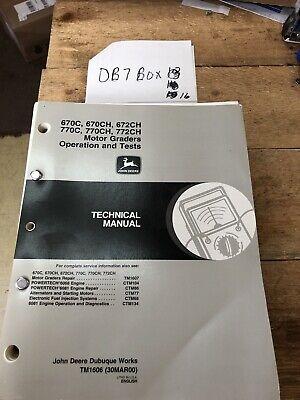 John Deere 670c 670ch 672ch 770c Ch Technical Service Shop Op Test Manual Tm1606