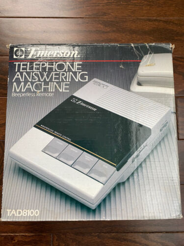 Emerson TAD 8100 9000 Telephone Answering Machine Voice Acti
