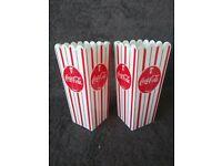 Coca-Cola  Set of 2 PopCorn Buckets Pop-Art And Classic Patterns BRAND NEW
