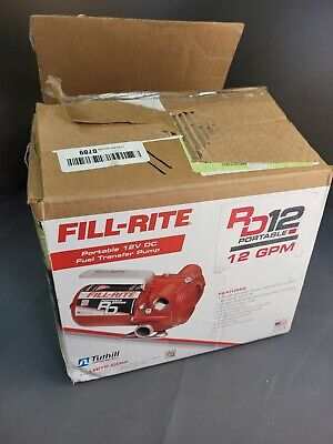 Fill-rite Red 12 Volt Dc 12 Gpm Portable Fuel Transfer Pump With Manual Nozzle