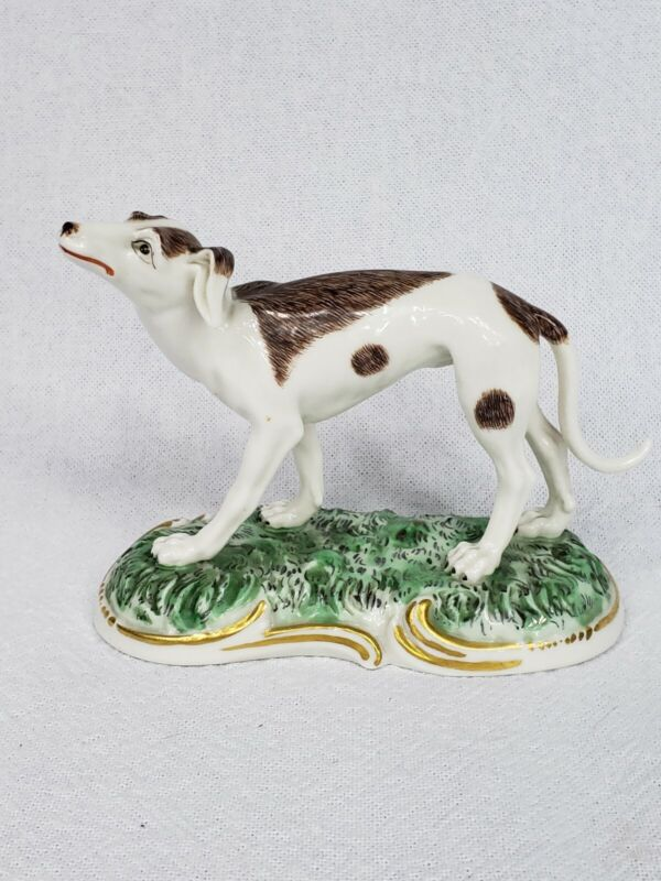 RARE Painted Antique Frankenthal Nymphenburg Dog Figurine/Figure Beautiful