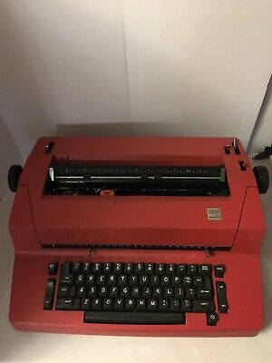 Red Ibm Correcting Selectric 2 Electric Typewriter Ii Vintage