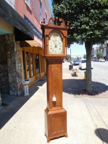 Outstanding American Walnut Tall Case Clock 19th century.