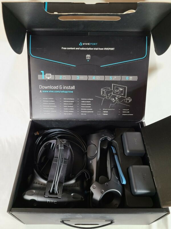HTC Vive Gaming System Virtual Reality VR Headset Complete