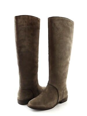 UGG Australia Gracen Mouse Suede Leather Tall Equestrian Riding Boot Size 7.5