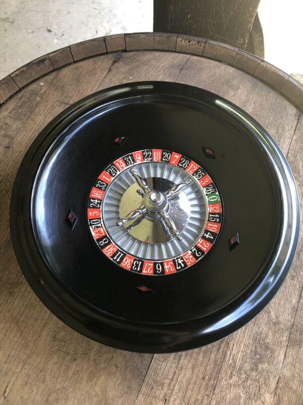 Vintage K & C Ltd. Travelers Roulette Wheel