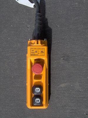 2 Button Pendant With E-stop Hoist Winch
