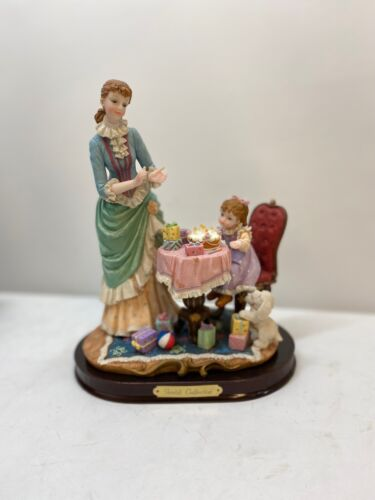 """Vintages Hand Made Resin Figurine Happy Birthday 11"""" for Delicates Gift"""