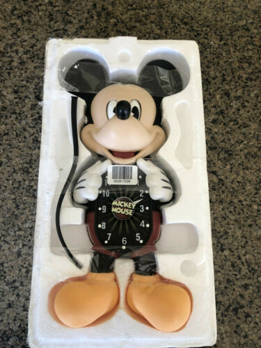 Bradford Exchange Disney Mickey Mouse Wall Clock Animated Moving Eyes and Tail